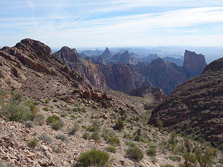 what a mountain range;  Kofa Wilderness, Kofa NWR, AZ