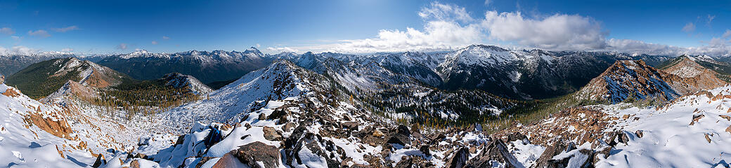 Highchair Mountain Summit Pano