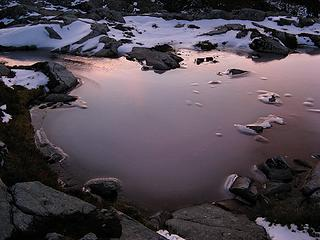 Dawn reflected on Flowing Tarn