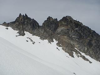 the gendarme and north peak