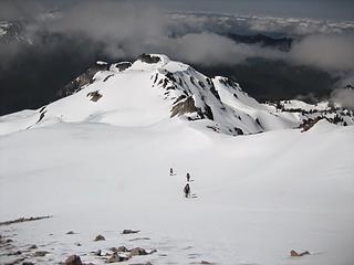 hiking along the ridge