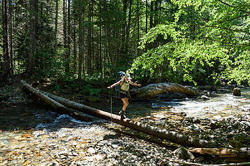 Crossing the Mineral Creek