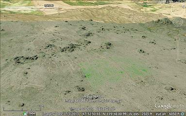 Some of them even show up on Google earth
