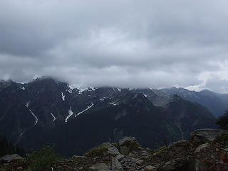 View N from Fisher's Notch, weather socking in