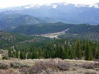 Meadows to the South of the summit, Pitcher Mountain, with Misson Ridge in the background