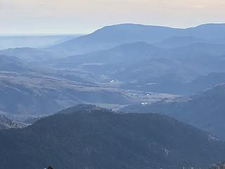 Looking southeast from the Lookout