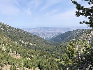 Looking east from Horsehead Pass - Lower Eagle Lake barely visible