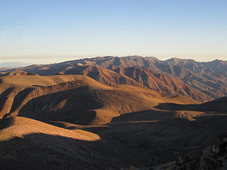 View south to Smith Mtn