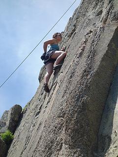 Sport climbing near Bariloche