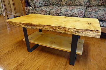 Live-Edge Cypress Coffee Table