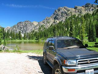 One of only a few high alpine lakes outside of wilderness you can drive to (with a 4WD) and car camp