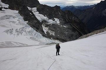 46. Ready to descend the glacier