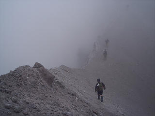 Traversing the summit