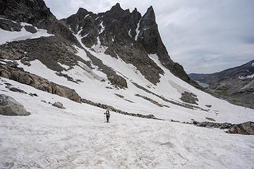 snow climb up to Bonney Pass