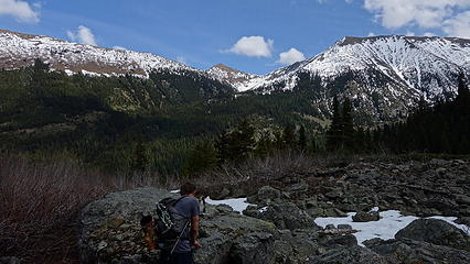 Tatie Peak across the valley to the east