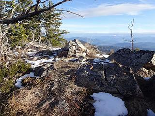 Summit cairn.