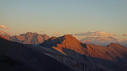 Sunset on Cerro Bismark from Camp Federacion