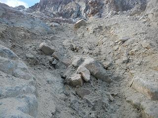 route crux, took me 20 minutes to climb 50 feet of this stuff