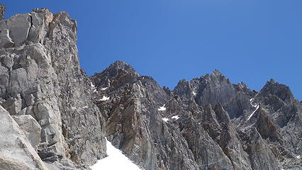 View up the beginning of the SW chute