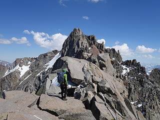 On the ridgecrest of Pallisade Traverse