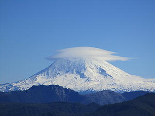 Mount Adams with lenticular cloud