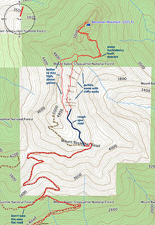 North Bessemer route map and notes
