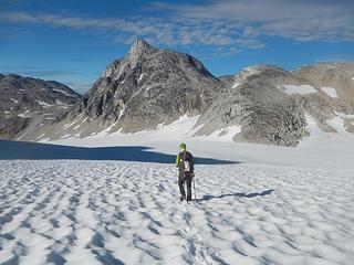 crossing the Madhorse Glacier