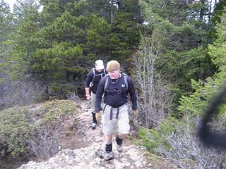 Gary reaching the summit.