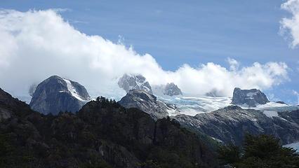 Cerro Cristal at center