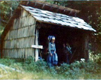 Pelton Creek Shelter - Queets Valley - ONP - 1982 - photo courtesy G. Patton