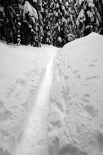 Snowshoe trench