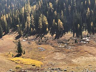 The meadow below Indianhead Pass