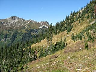 faint path on the slopes