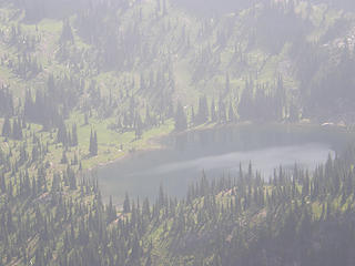 Views of Crystal Lake from Crystal Peak summit.