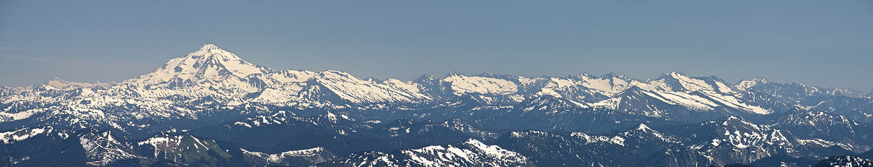 Glacier Peak pano from Mt Hinman