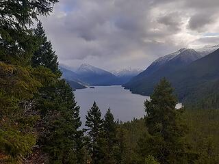 First view of Ross Lake, with Cat Island in the distance