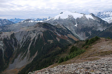 Ruth, with Blum (immediate left), Jagged Ridge (right) behind