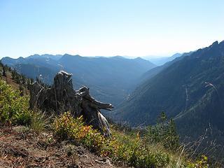 view down Buck Creek Valley