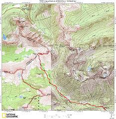 Copper Pass - Peak  7840 via Twisp Pass and Copper Pass Trails