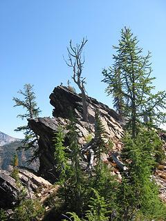 rock promontory at ridge