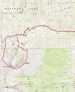 Wheeler and Jeff Davis GPS Track. 14 miles, 6000' gain, though it would be much shorter when the road is open to the end.