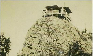 Kloochman Rock Lookout - Queets Valley - photo courtesy Mary Ann Shaube Lujan - NPS photo