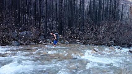 Josh crossing Lost River