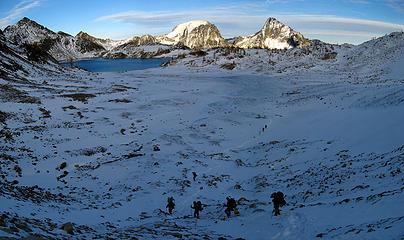 Descending to Upper Ice Lake