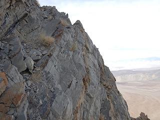 narrow ledge