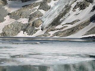 Banded glacial lake