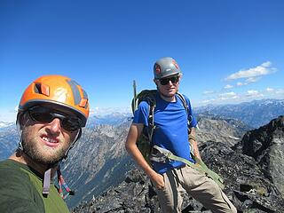 Jake and I on the summit of Dark