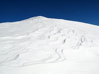 Sastrugi above pass