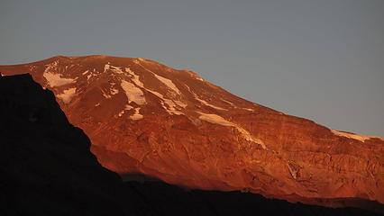Alpenglow on Volcan San Jose