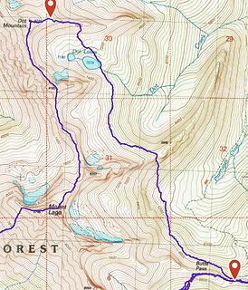 Dot Lakes to Butte Pass